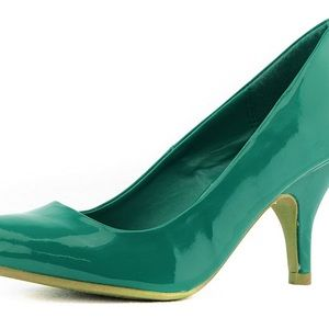 Leather Stiletto High Heel Pumps Fashion Shoes